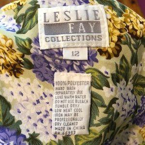 Vintage Dresses - Vintage 80s/90s Multicolored Floral Print Dress